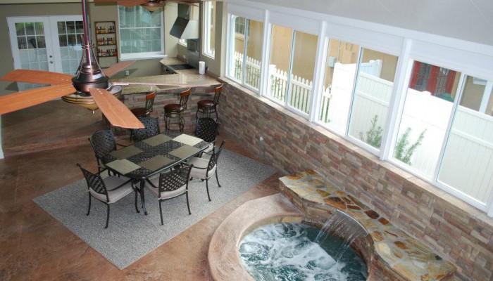 outdoor leisure room